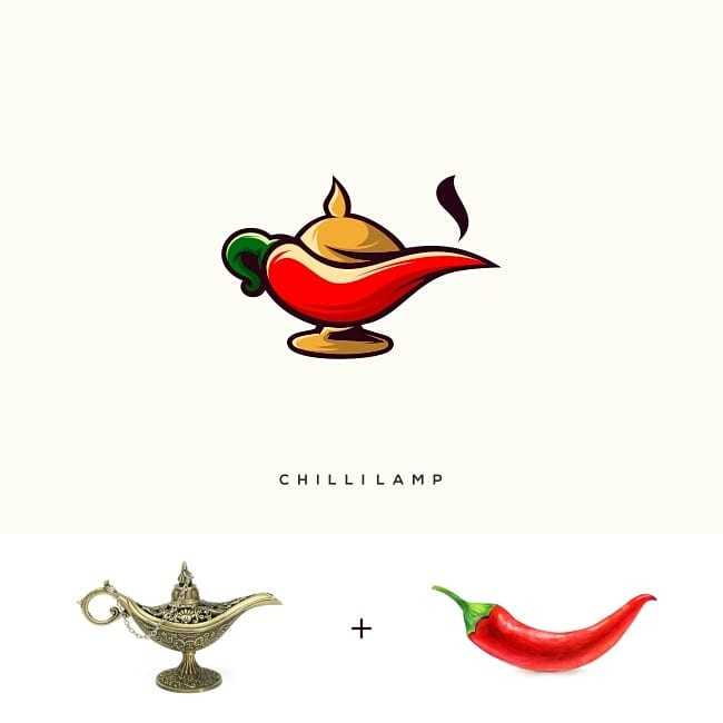 Logos made by combining two different things - 16