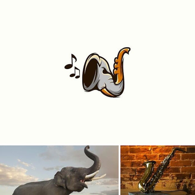Logos made by combining two different things - 17