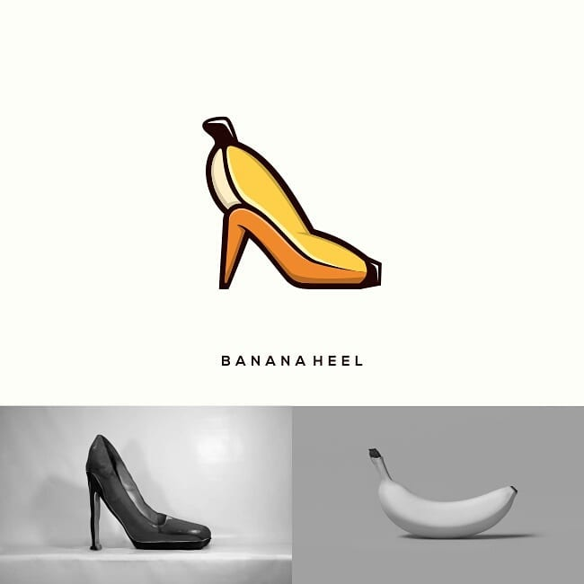 Logos made by combining two different things - 21