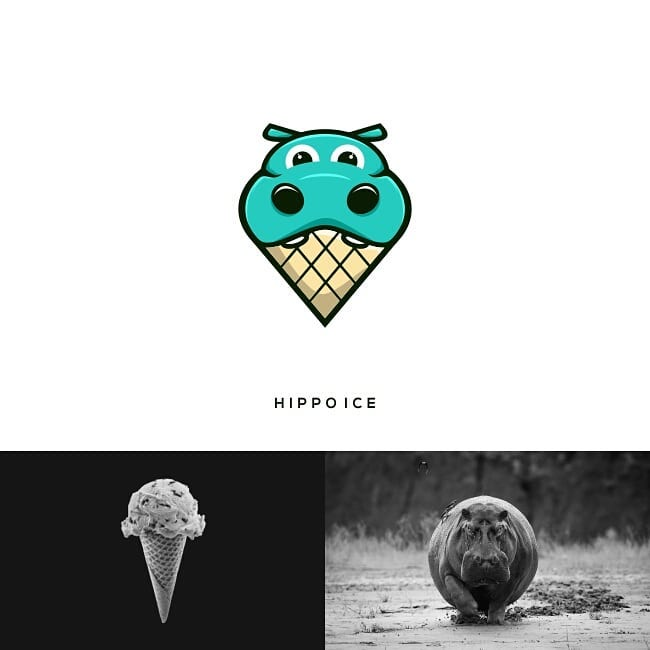 Logos made by combining two different things - 26