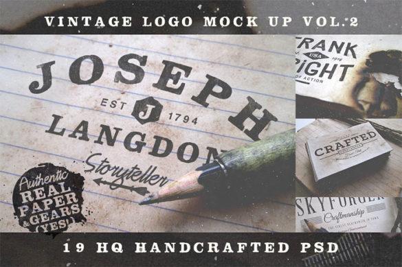 vintage-logo-mock-up-vol-2- Plantillas de maquetas de logotipos para descargar y usar para presentar sus logotipos