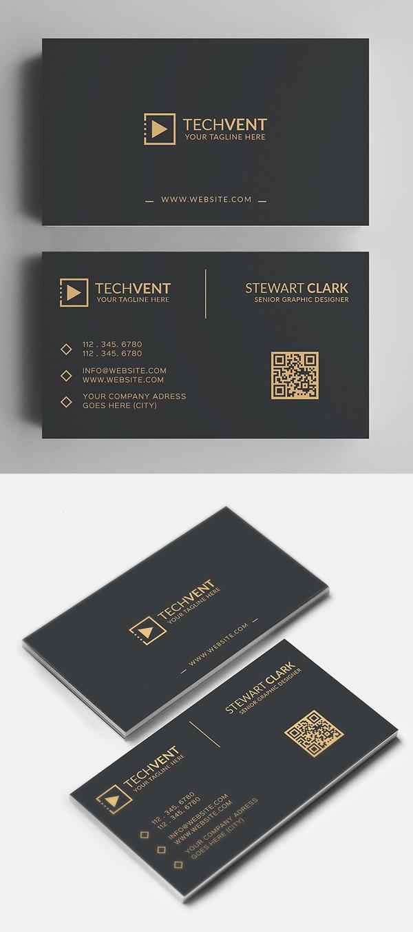 Gold Minimal Business Card