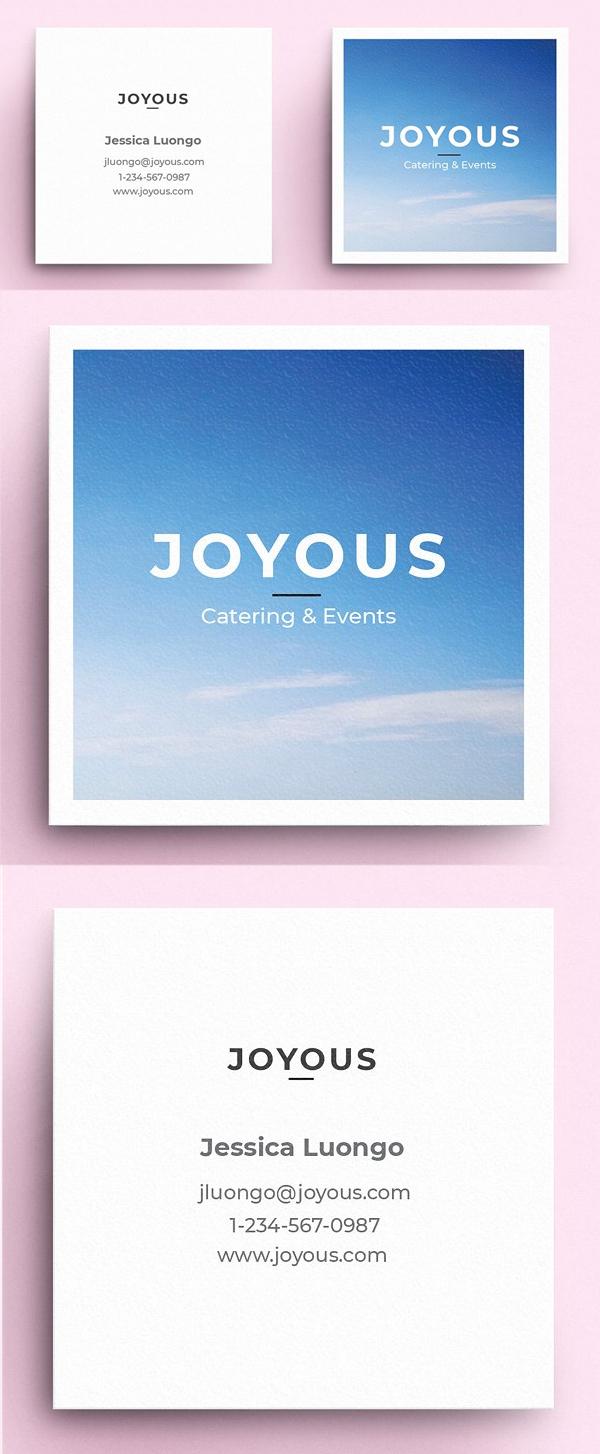 tarjetas de presentación creativas, Feliz - plantilla de tarjeta de visita