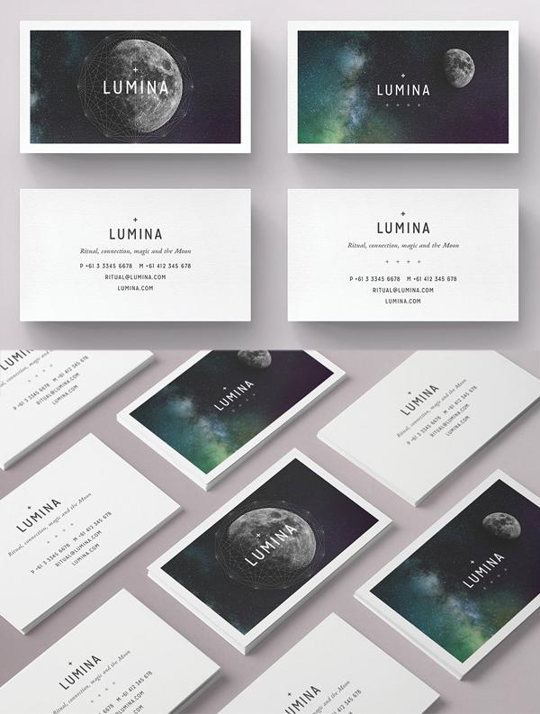 Plantilla de tarjeta de visita - LUMINA