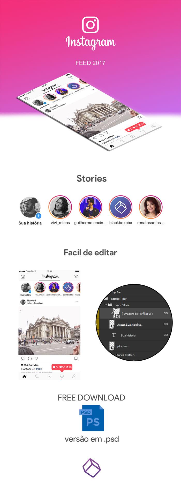 36f3c351372167.58ebc0871761 Plantillas de Instagram Mockup para descargar para sus presentaciones