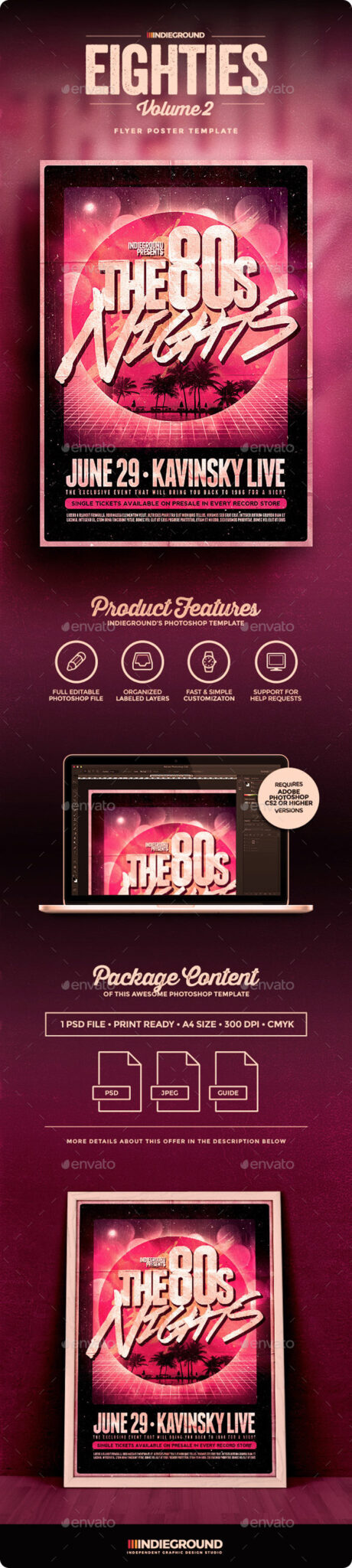80sVol2_Flyer_Preview 43 Plantillas de folleto que debe descargar para sus clientes