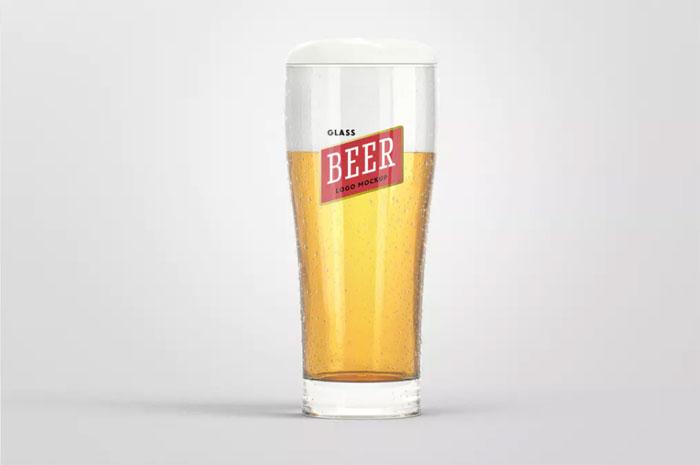 Beer-Glass-Logo Logo plantillas de maquetas para descargar y usar para presentar sus logotipos