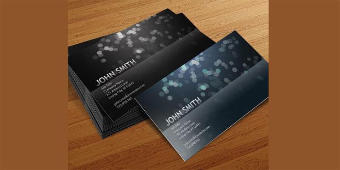 Blurry-Circles-Business-Car Plantillas de tarjetas de visita gratuitas que puedes descargar hoy