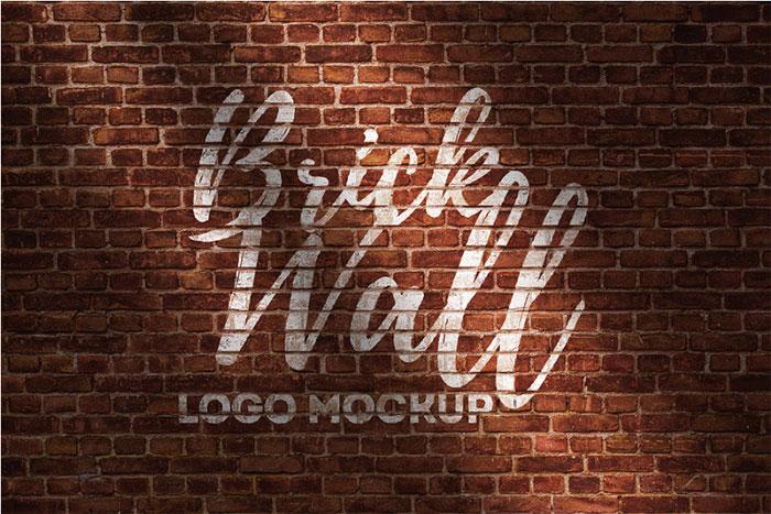 Brick-Wall-Logo-Mockup Logo plantillas para descargar y usar para presentar sus logotipos