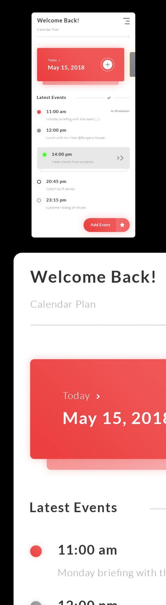 Plan de Calendario Gratis - Tareas Eventos App