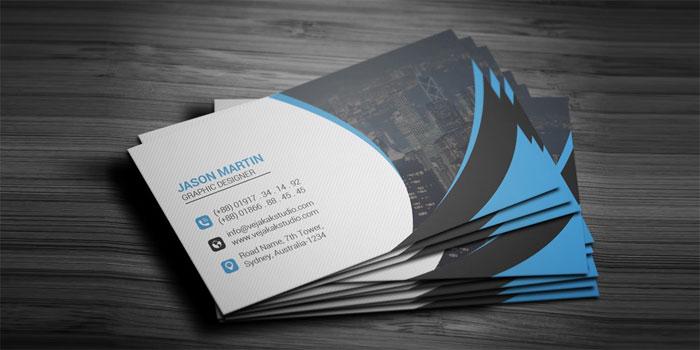Tarjeta de presentación corporativa-PSD Plantillas de tarjetas de presentación gratuitas que puede descargar hoy