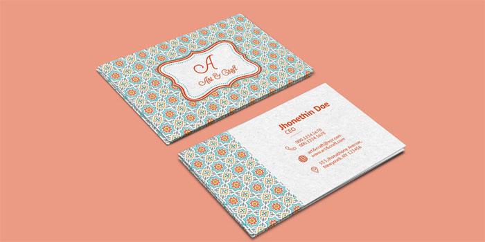 Craft-Agency-Business-Card - 700x350 Plantillas de tarjetas de visita gratuitas que puede descargar hoy