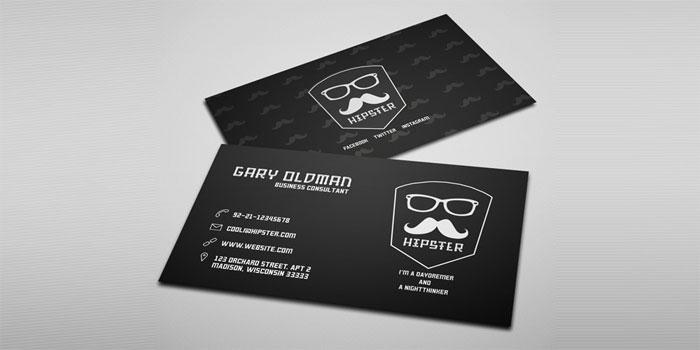 Free-Hipster-Business-Card - 700x350 Plantillas de tarjetas de visita gratuitas que puedes descargar hoy