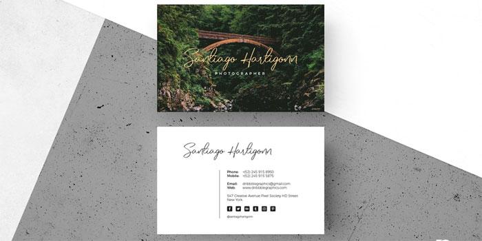 Free-Modern-Photographer-Bu Plantillas de tarjetas de visita gratuitas que puedes descargar hoy