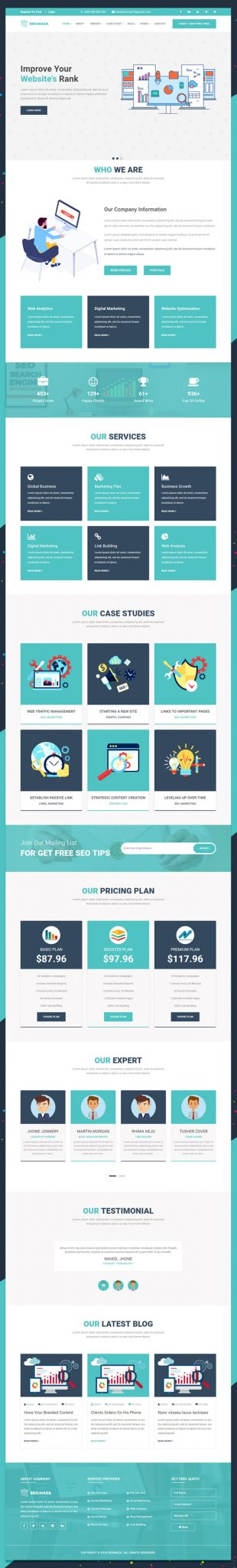 PSD Seo Responsive Bootstrap Website Template