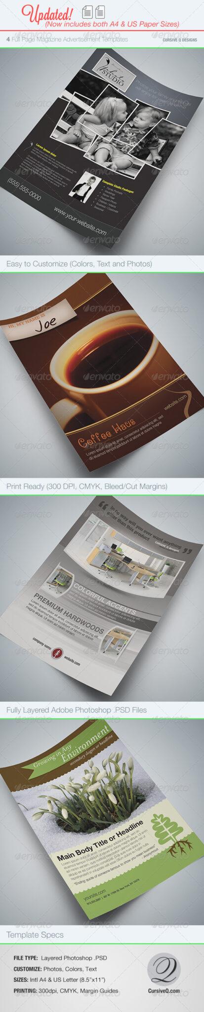 Full_Page_Magazine_Ad_Flyer 43 Plantillas de folleto que debe descargar para sus clientes