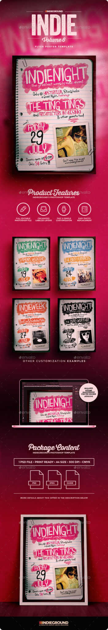 IndieVol6_Flyer_Preview 43 plantillas de Flyer que debe descargar para sus clientes