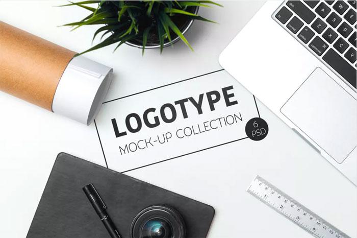 Logo-Mock-Up-C_ Plantillas de logotipo para descargar y usar para presentar sus logotipos.