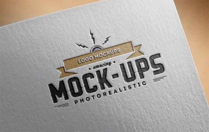Logo-MockUps-Paper-Edition- Plantillas de logos para descargar y usar para presentar sus logotipos.