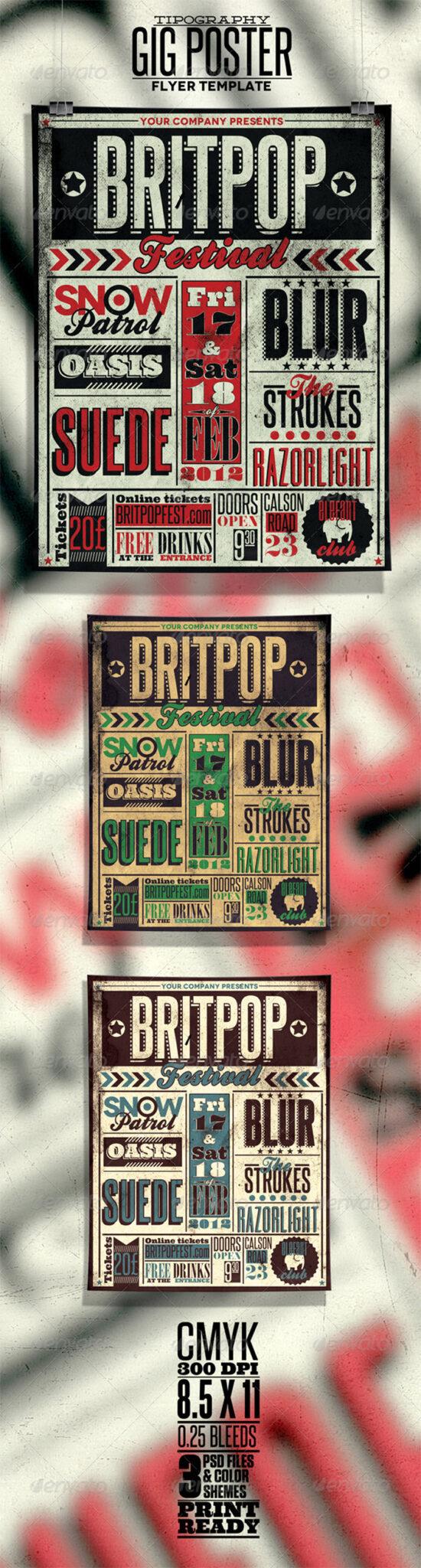 Preview-Typography-Gig-Post 43 Flyer que debe descargar para sus clientes