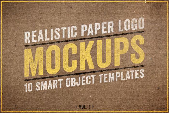 Realista-Papel-Logo-Mockup-1 Logo plantillas de maquetas para descargar y usar para presentar sus logotipos