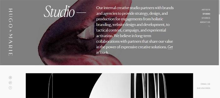 Studio -–- Web-Design-Motion Trabajos excelentes  de companias de diseño