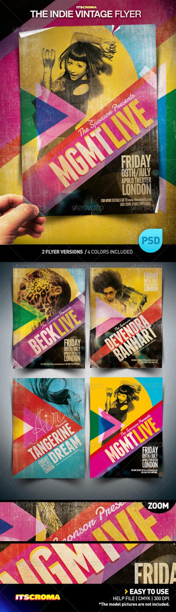 The-Indie-Vintage-preview 43 Plantillas de Flyer que debes descargar para tus clientes