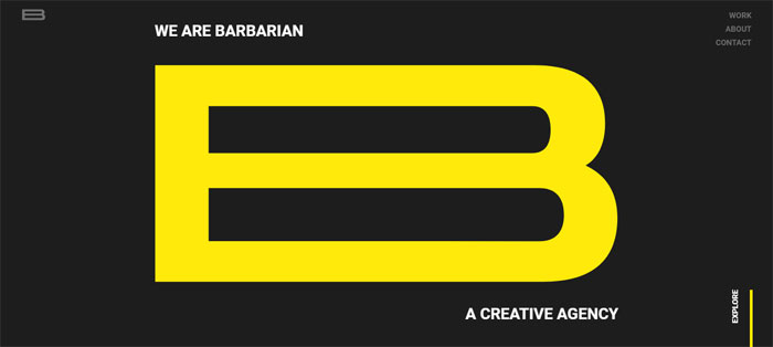 WeAreBarbarian-https ___ we Compañías de diseño gráfico cuyo trabajo debe revisar