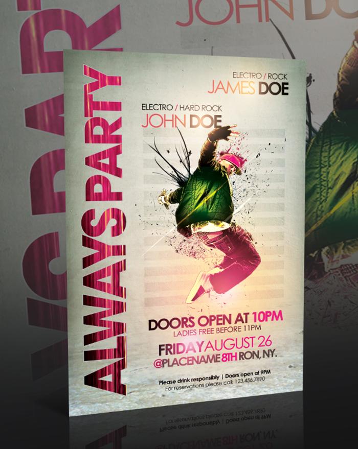 always_party_flyer__psd__by 43 plantillas de folleto que debe descargar para sus clientes
