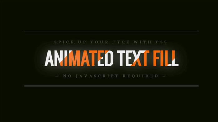 Efectos de texto CSS con relleno de texto animado: 116 ejemplos geniales que puede descargar