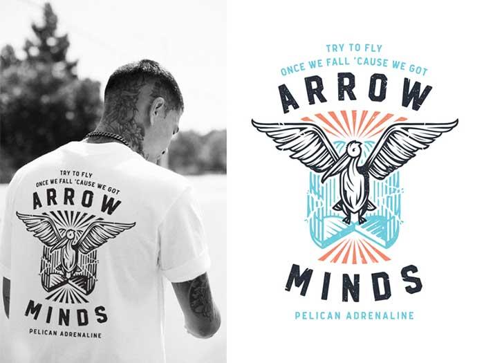 Ideas para el diseño de camisetas de arrow-minds que te inspirarán a diseñar una camiseta
