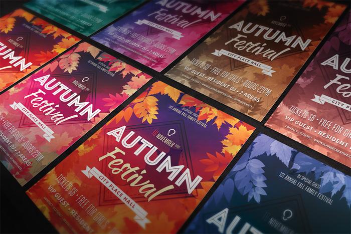 autum-free-flyer-psd-templa 43 plantillas de Flyer que debe descargar para sus clientes