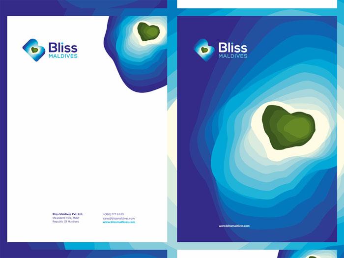 bliss_maldives_stationery_d Ideas de diseño de logotipos de viajes que debe usar en su próximo proyecto