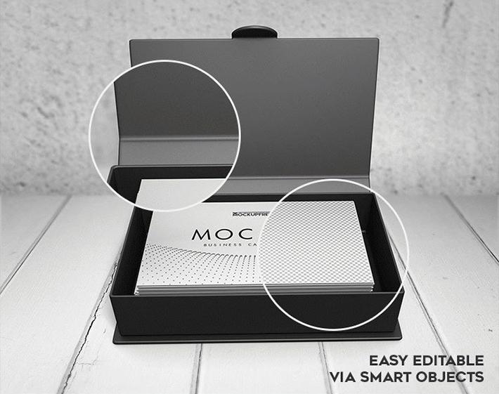 Elegante diseño de tarjeta de presentación con cuadro de maqueta descarga gratuita