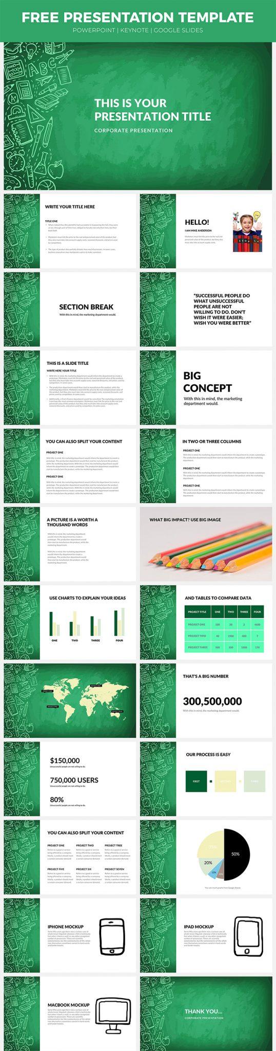 Presentación de negocios creativos Plantilla de diseño web Descarga gratuita