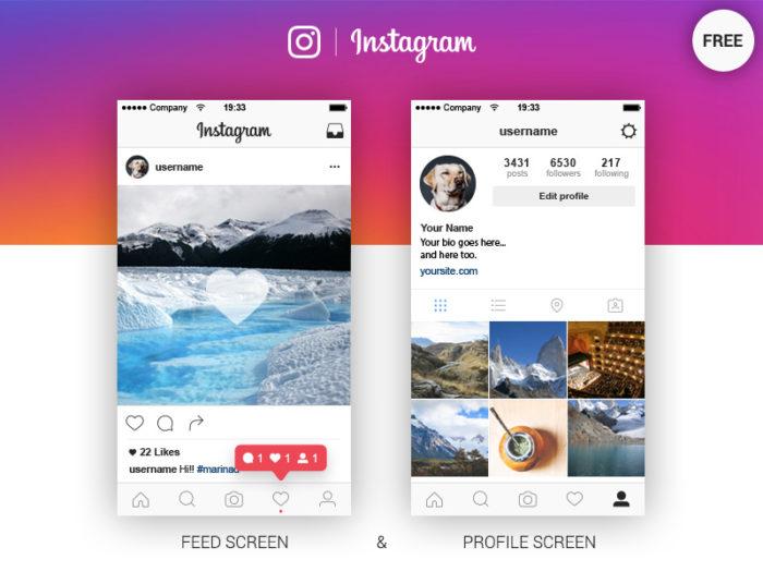 Dribbble-ig-1 Plantillas de Instagram para descargar en tus presentaciones