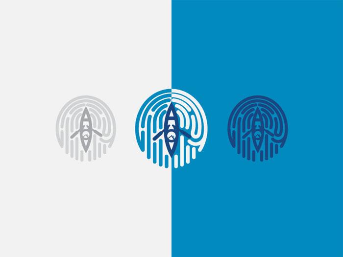 finriver-01 Ideas de diseño de logotipos de viajes que debe utilizar en su próximo proyecto