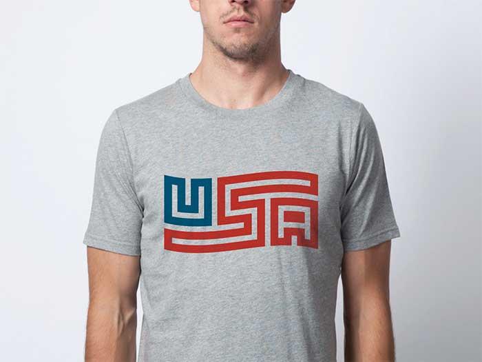 flag_usa_shirt Ideas de diseño de camisetas que te inspirarán a diseñar una camiseta