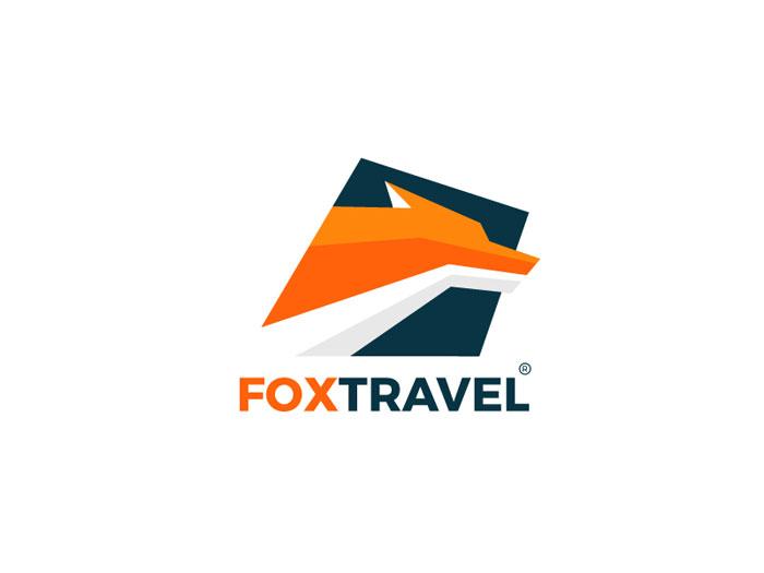 fox_travel Ideas de diseño de logotipos de viajes que debe utilizar en su próximo proyecto