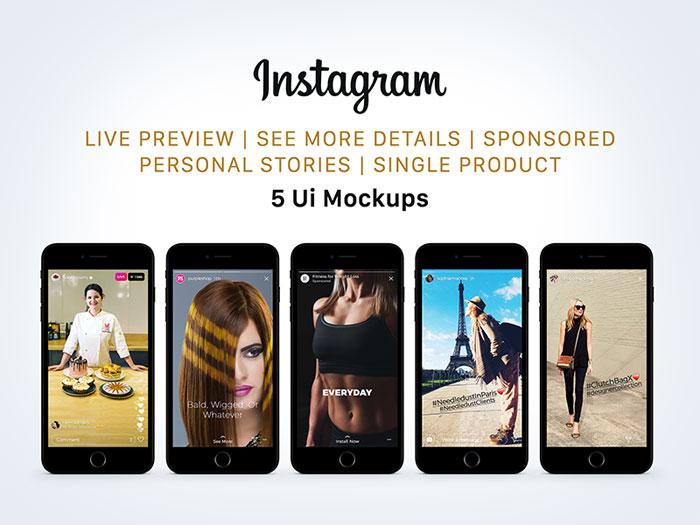 free_instagram_sponsored__l Plantillas de Instagram Mockup para descargar para tus presentaciones