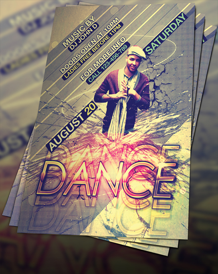 free_psd_dance_flyer_by_fly 43 Flyer que debes descargar para tus clientes