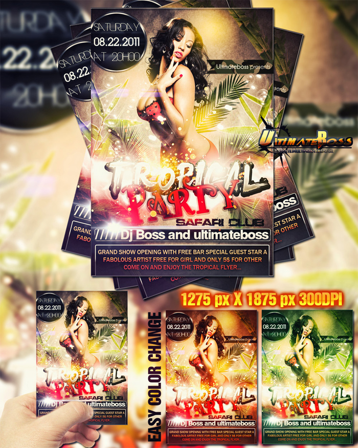 freemium_tropical_party_fly 43 Plantillas de Flyer que debes descargar para tus clientes