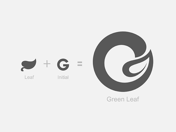 Green_leaf logotipo que debe utilizar para proyectos de marca.