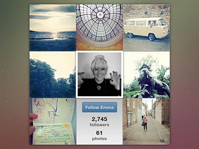 Instafam plantillas de Instagram Mockup para descargar para sus presentaciones