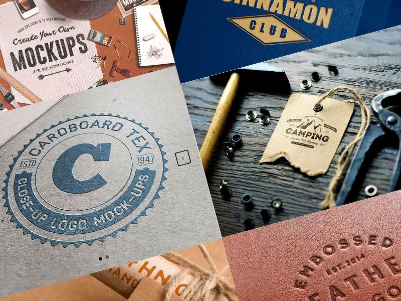 plantilla, mockups para logos