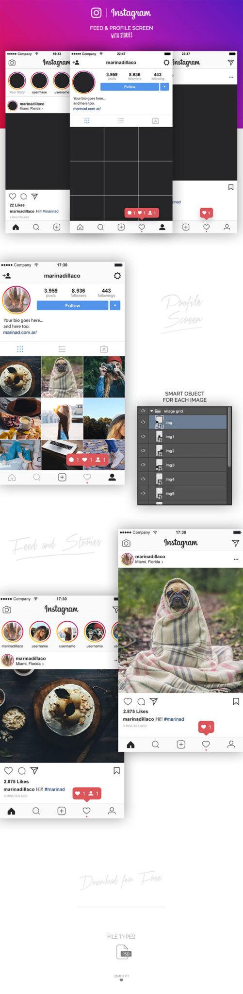 Vista previa-instagram-2017-psd Plantillas de Instagram para descargar en tus presentaciones