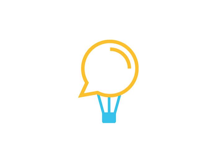 ramin_nasibov_logo__talk_tr Ideas de diseño de logotipos de viajes que debe utilizar en su próximo proyecto