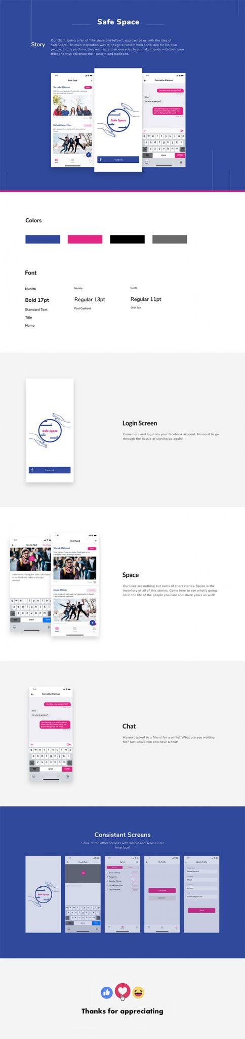 Creative Social App Design para usuarios de iOS Descarga gratuita