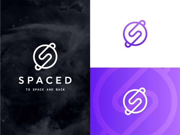 spaced_challenge_abe_zielen Ideas de diseño de logotipos de viajes que debe utilizar en su próximo proyecto