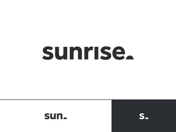 Sunrise  logotipo que debe utilizar para proyectos de marca